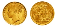 1 Pfund Gold Sovereign, Victoria Young