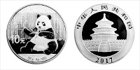 AKTION: 30 Gramm Silber China Panda 2017 (Dif)