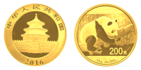 15 Gramm Gold China Panda 2016