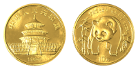 1/20 Unze Gold China Panda 1986