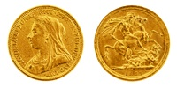 AKTION: 1 Pfund Gold Sovereign, Victoria Old