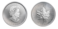 1 Unze Silber Maple Leaf 2019 (Dif) (5T)