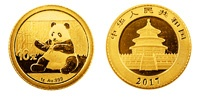 1 Gramm Gold China Panda 2017