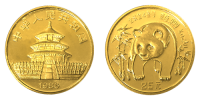 1/4 Unze Gold China Panda 1986