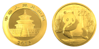 1/2 Unze Gold China Panda 2015